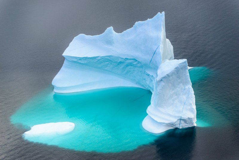 Huge Iceberg from the sky in South Greenland