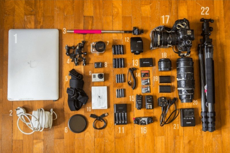 Camera gear we took