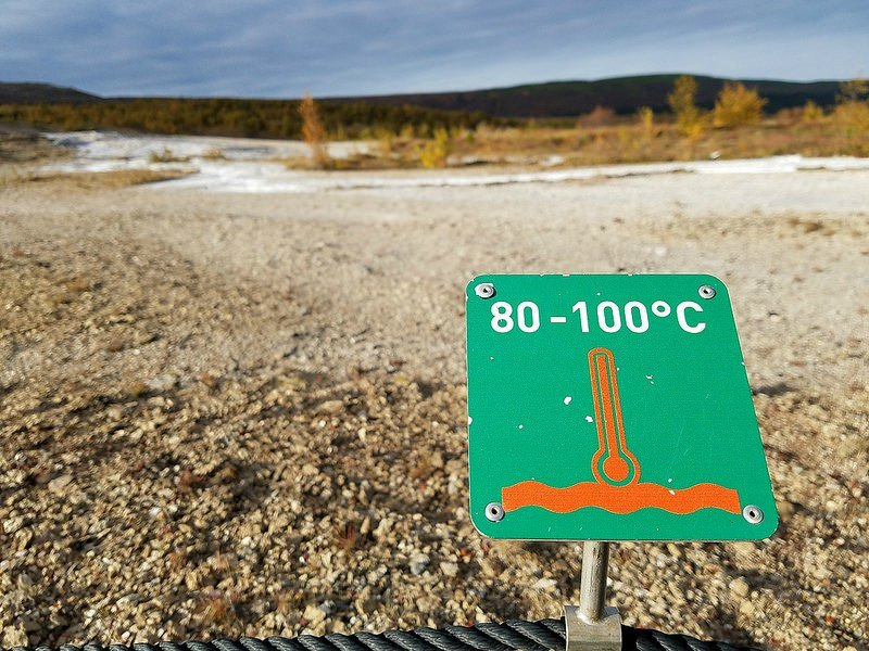 Geysir temperature