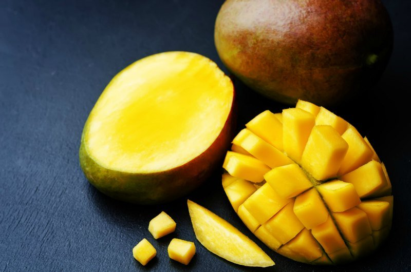 Intimacy on the plate aphrodisiac mango
