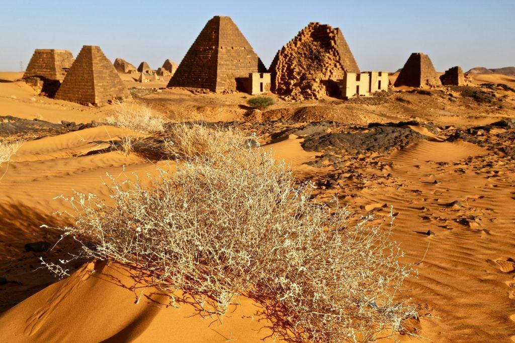 Meroe Pyramids of Sudan