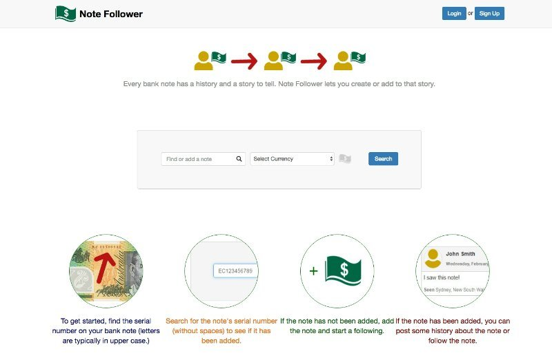 note follower homepage
