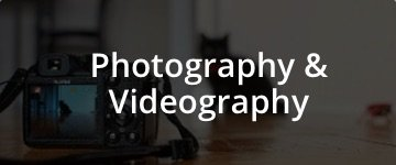 photography and videography menu