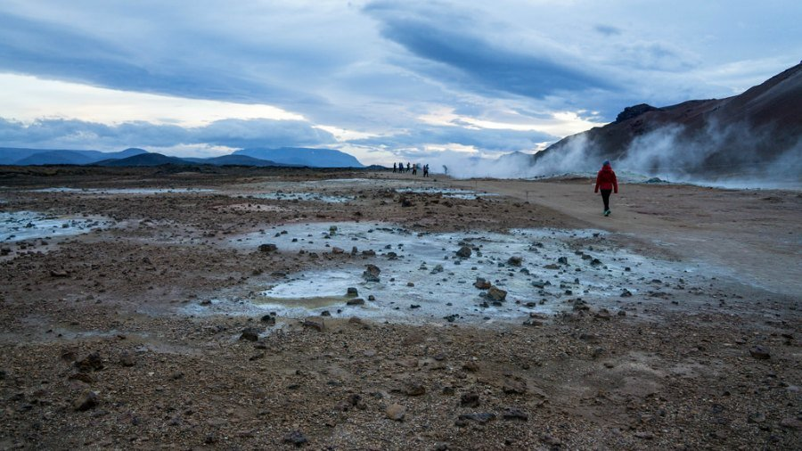 Geothermal springs near Myvatn