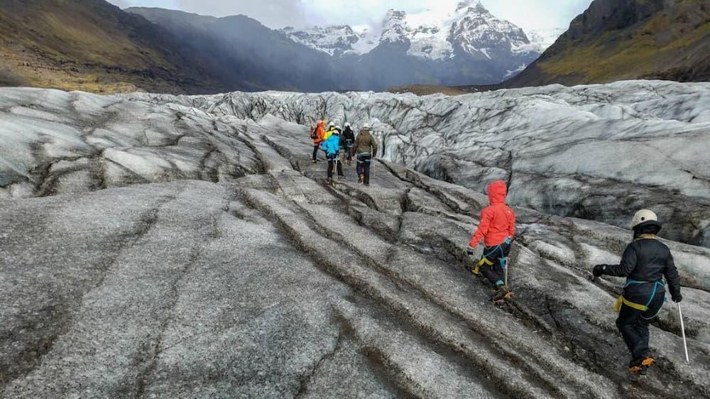 Hiking on the glacier