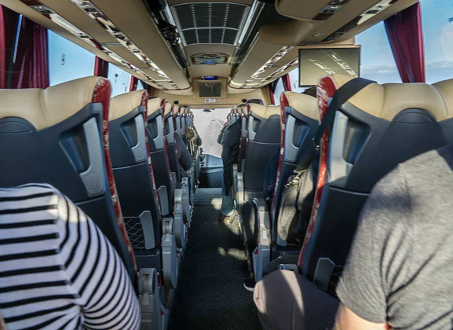 Inside our Extreme Iceland bus