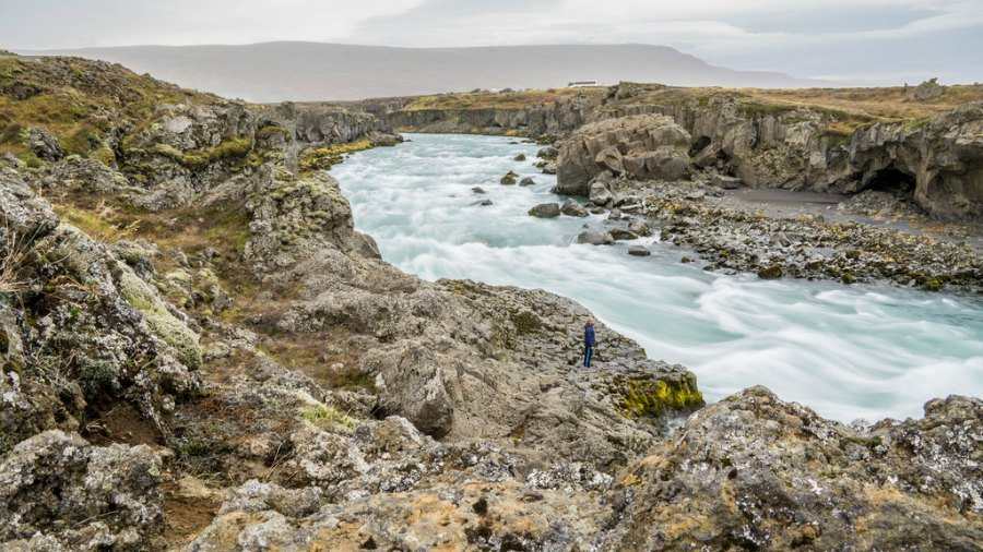 River flow below Godafoss