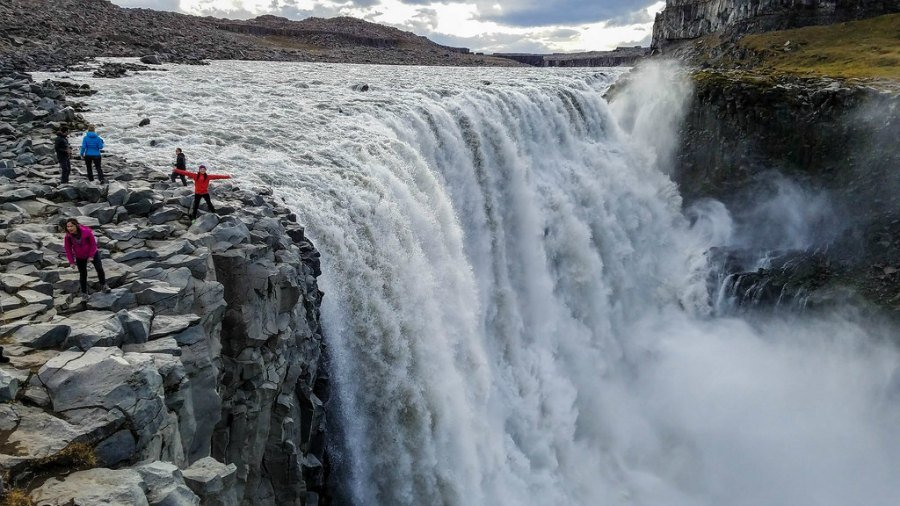 Standing on the edge of Dettifoss