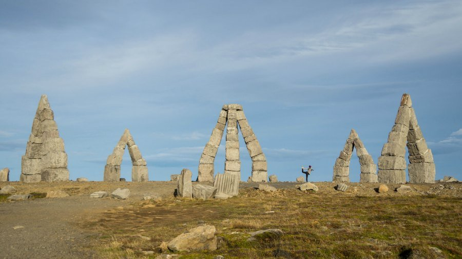 Yoga at the Arctic Henge