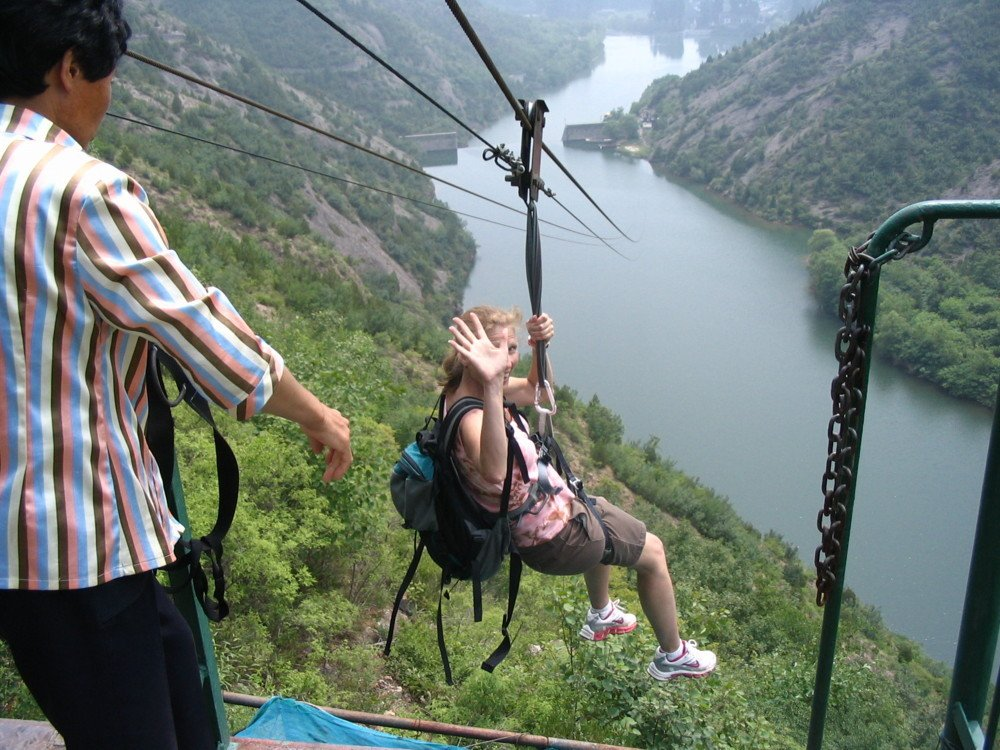 Great wall of china zipline