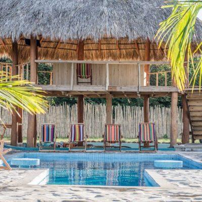 Ruamoko pool and reception