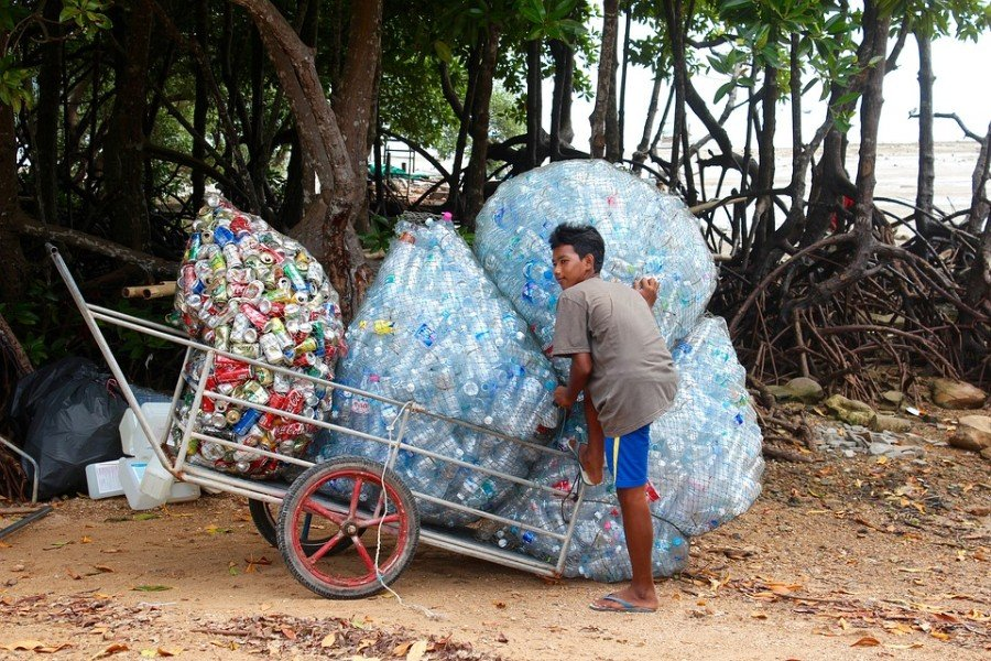Collecting bottles