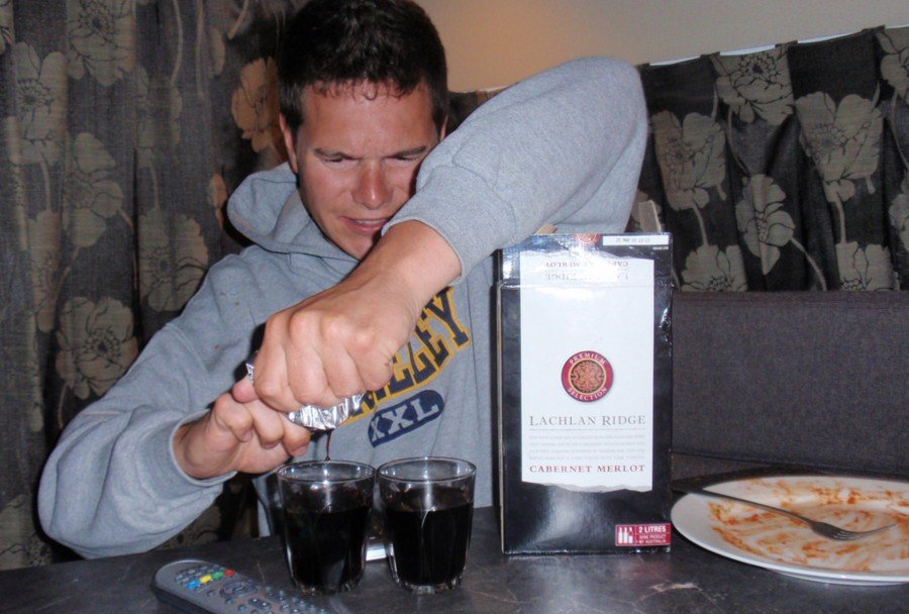Aussie goon drinking