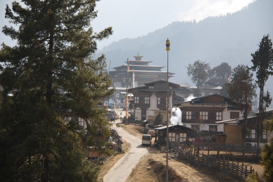 Gangtey Monastery and Town - Phobjikha Valley