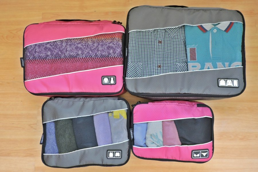 Filled Idesort Packing cubes