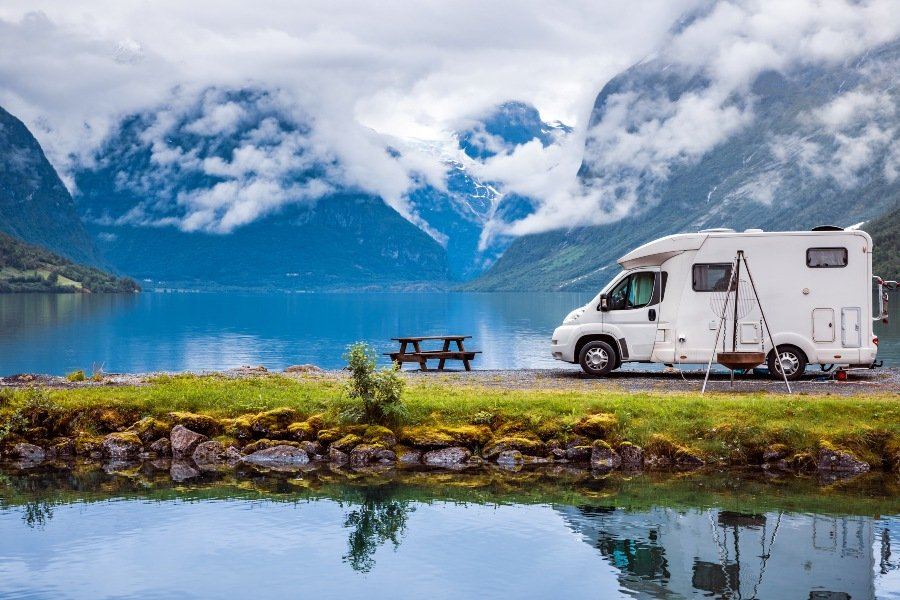 Camping with a campervan